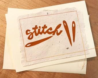 Stitch Letterpress Print Limited Edition Card