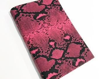 Handmade Journal Sketchbook Pink Snakeskin