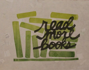 Read More Books Letterpress Print Limited Edition - Handmade Paper
