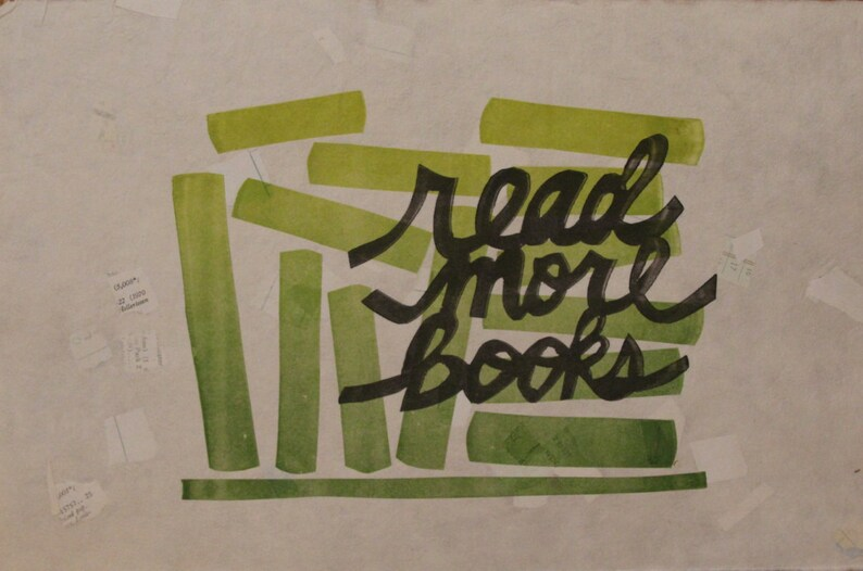 Read More Books Letterpress Print Limited Edition  Handmade image 0