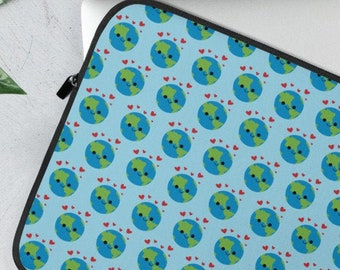 Tie Dye Rainbow Alien Laptop Sleeve 13 15 inch sci fi gift trippy women cute alien gift alien computer bag notebook macbook sleeve