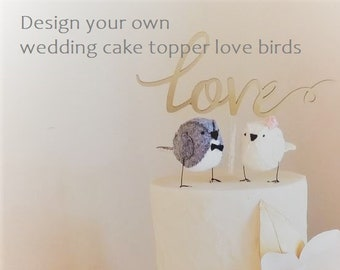 Choose your own Wedding Cake Topper Birds - Information Only