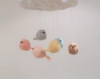 Scandinavian baby mobile - modern neutral nursery decoration