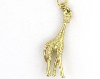 Nichoir Bijoux - Collier or girafe