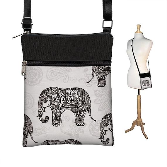 b1f1c235355a Sling Bag Shoulder Purse Elephant Cross Body Bag Small Travel