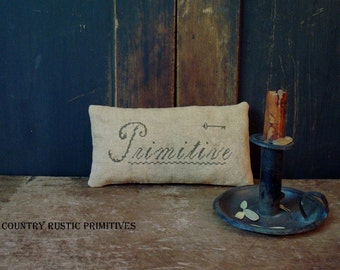Primitive Cupboard Keep Pillow Cross Stitch E Pattern PDF
