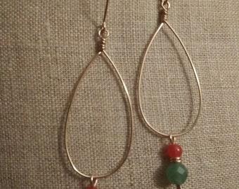 Alana Rose Earrings*  Rose Gold Green Aventurine