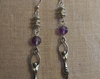 Goddess Blessings Earrings* Amethyst
