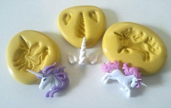 Unicorn Oreille Eye Corne silicone moule gâteau de Sugarcraft Fondant-Décoration Mold