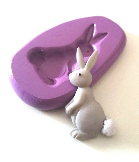 RABBIT Silicone Mould 28 mm Easter Bunny Fimo Sugarpaste Fondant Sugarcraft