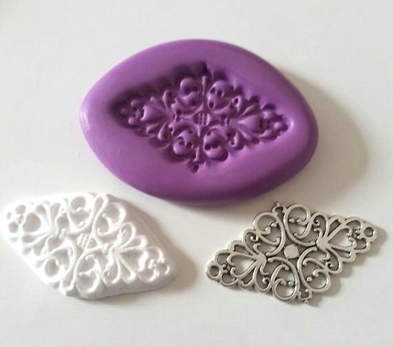 Pluma De Silicona Molde 60 mm alimentos seguros Glaseado Sugarcraft Fimo Arcilla Polimérica