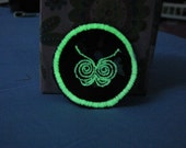 Glow-in-the-dark Sew on Butterfly Patch