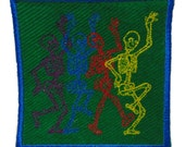 Dancing Skeletons Sew-on Patch