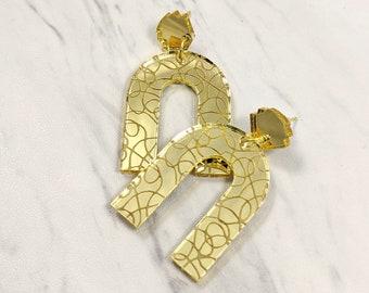 Mirrored Arch Dangle Earrings
