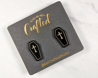 Miniature Coffin Stud Earrings