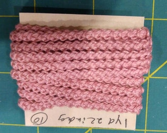 pre made  size 10  romanian point lace cord  pink