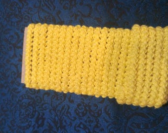 pre made size 5 romanian point lace cord bright yellow vintage thread