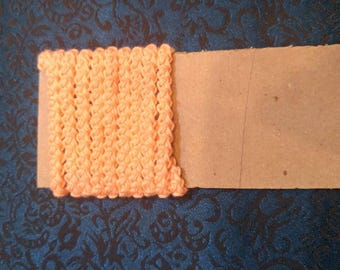 pre made size 5 romanian point lace cord pale peach vintage thread