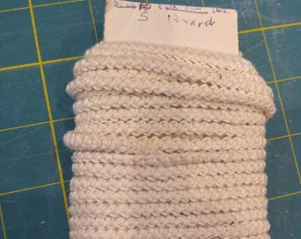 pre made size 5 romanian point lace cord cream vintage thread