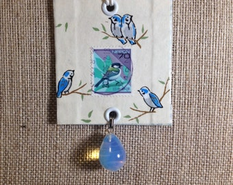 Stamp Necklace - Japanese Bird
