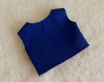 18 inch Doll Clothes Royal Blue Modified Crop Top Will fit American Girl