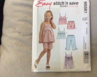 Easy Stitch 'n Save pattern # M5561 child's top and pants size 3-6