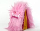 Worry Woolie Childrens Notebook, bubblegum pink magical monster journal