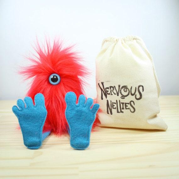 Nervensystem Nelly Plüsch Monster Spielzeug rot   Etsy