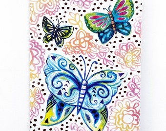 Recycled Butterfly Blank Greeting Card
