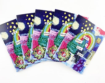Special! - 5 pack - Recycled Rainbow Love Blank Greeting Cards