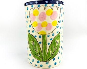 Hand Built Earthenware Vase / Vessel