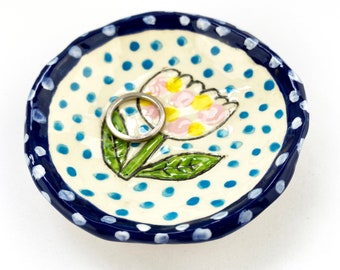 Hand Built Earthenware Ring Dish