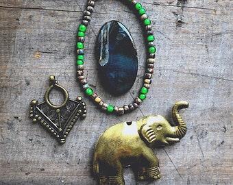 Elephant Pendant Kit= DIY Jewelry