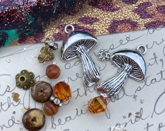 Wild Mushroom Earring Kit - DIY Jewelry