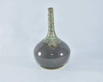 Genie in a Bottle Vase. Handmade ceramic vase, 9th anniversary gift, Colorado made pottery