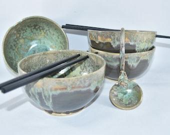 Ramen Bowl, Japan Noodle Bowl, Thailand Chopstick Rice Bowl, Pho bowl