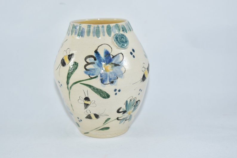 Save the Bees Pottery Vase image 0