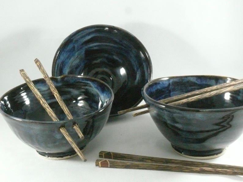 Ceramic Noodle Bowl Rice Bowl Chopstick bowl Pho Bowl Miso image 0