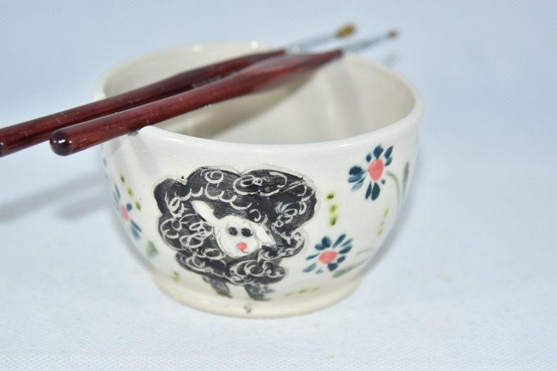 Painter's Watercolor Bowl. Artist Paintbrush Holder. Water image 0