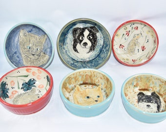 Pet Dishes: Water and Food bowls for cat or dog - cat dish, dog food bowl