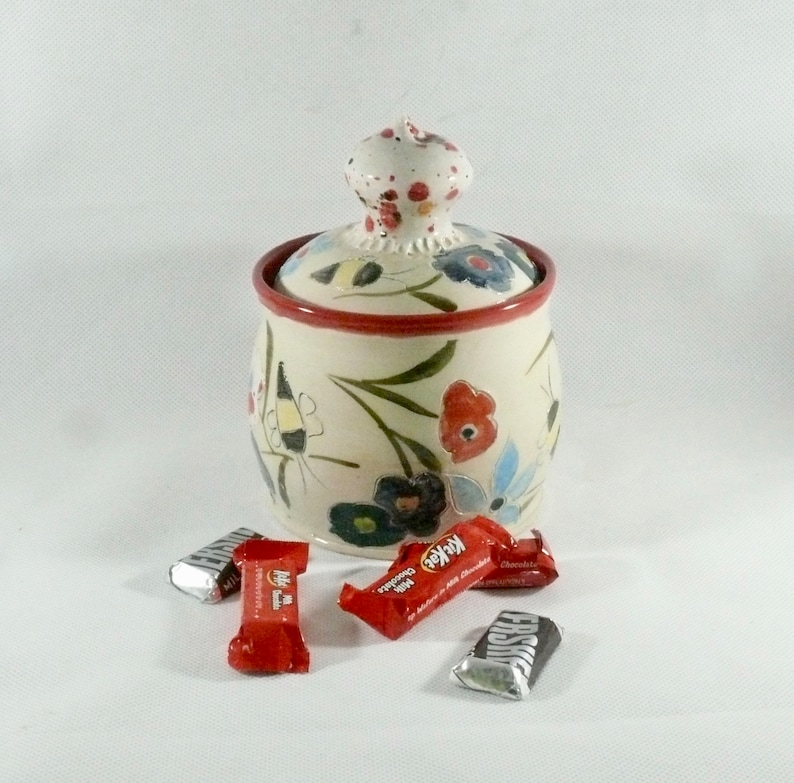 Set of 2 Porcelain Jars Containers Tea Coffee Sugar Ceramic Cat Canisters KitKat