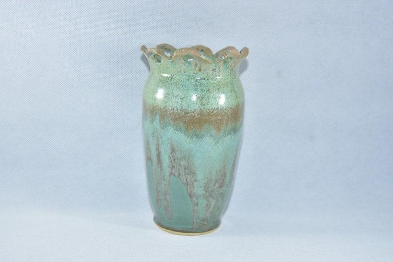 Green Ceramic Vases Handmade Pottery Vases Colorado Pottery image 0
