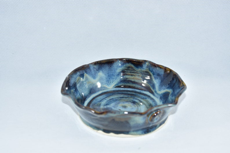 Moody Blue Pottery Pie Pan  Quiche Baking Pan 9th image 0