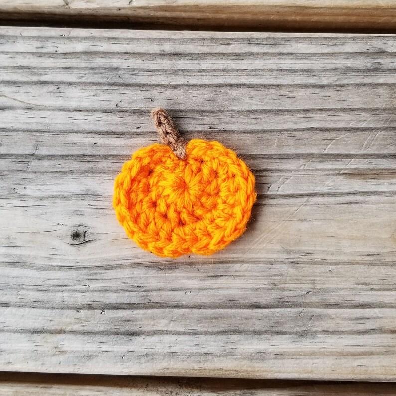 Pumpkin Applique Pattern Pumpkin Crochet Pattern Fall Crochet Pattern Crochet Food Applique Pattern