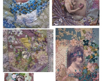 Digital Crazy Quilt Images No2
