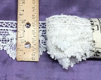 White cotton lace trims. free shipping