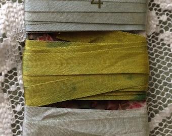 7mm hand dyed silk ribbon