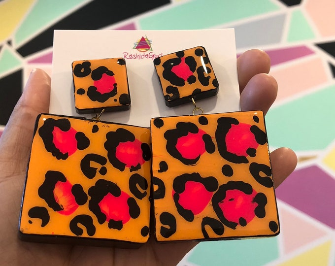 Neon Cheetah Block