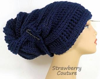 African Head Wrap Accessories, Crochet Head Scarf Turban Hat, African Gele Hat, Navy Hat, Gele Womens Turban Hat, Crochet Hat, Womens Hat