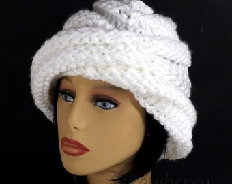 3c754ee9240 Ombretta Knitting Boho Beanie Hat for Trendy Women in White Spring  Accessories